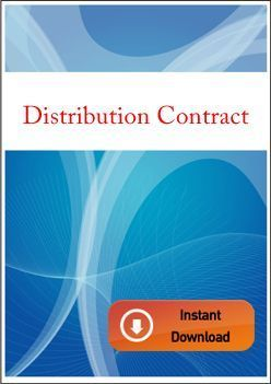 DISTRIBUTION CONTRACT - INTERNATIONAL CONTRACTS
