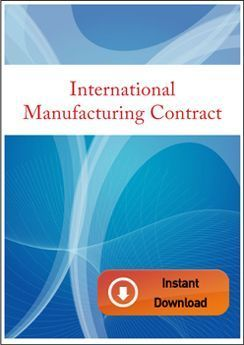 International Manufacturing Contract