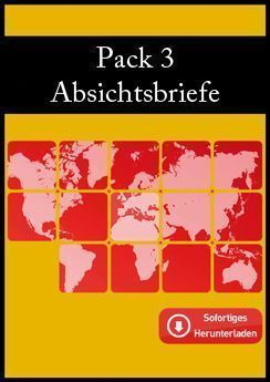 Pack 3 Absichtsbriefe