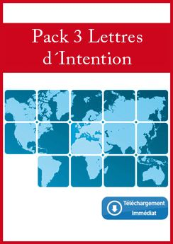 Pack 3 Lettres d´Intention